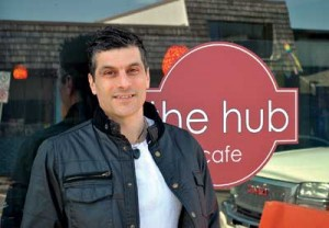 Ben-Zion Eni, owner of The Hub Café, says foot traffic is just one of the draws to being downtown. He encourages anyone interested in opening a business to attend the Downtown Courtenay AGM on May 20.