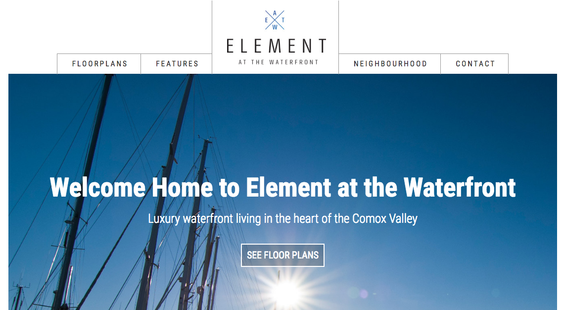 Web Copy: Element At Comox Harbour