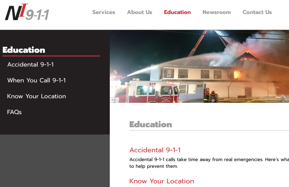 Web Copy: North Island 911 Education Section