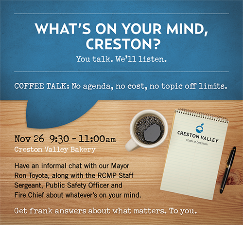 Ad copy: Creston Coffee Talk