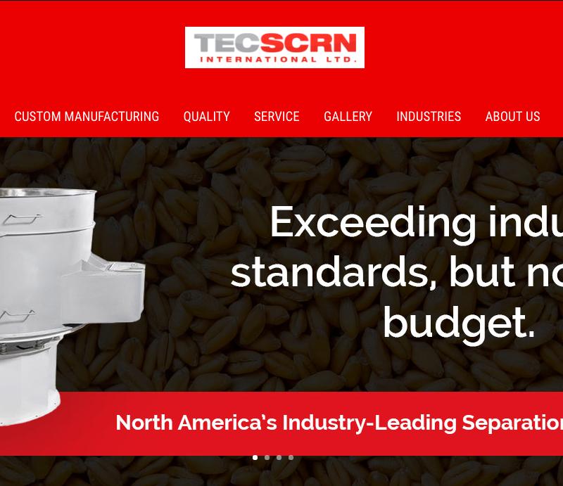 Web Copy: Tec Scrn International