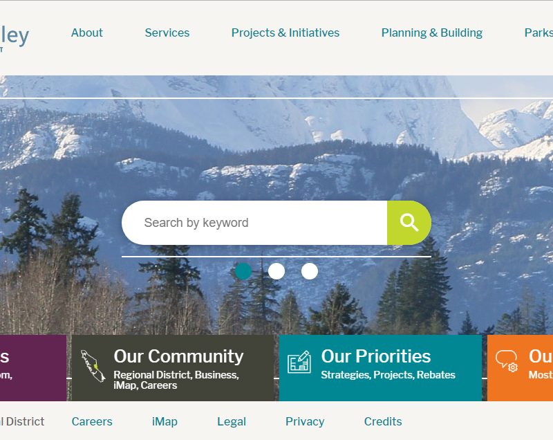 Web copy: Comox Valley Regional District