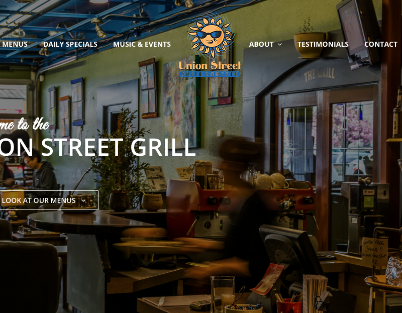 Web copy: Union Street Grill & Grotto