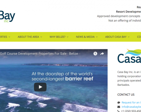 Casa Bay website screenshot