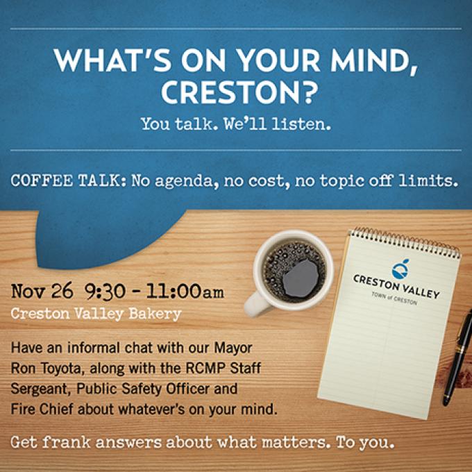 Creston Coffee Talk ad